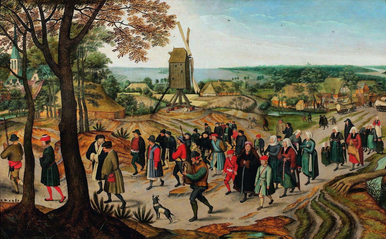 La Procession nuptiale_Pieter II Brueghel