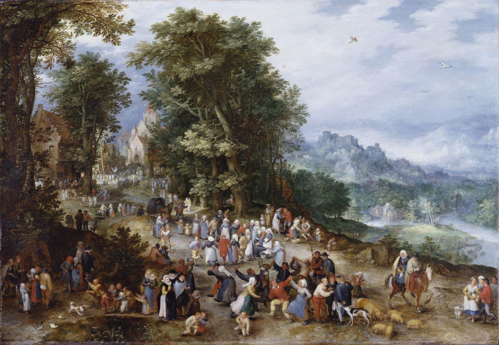 Une fête villageoise _ Jan I Brueghel