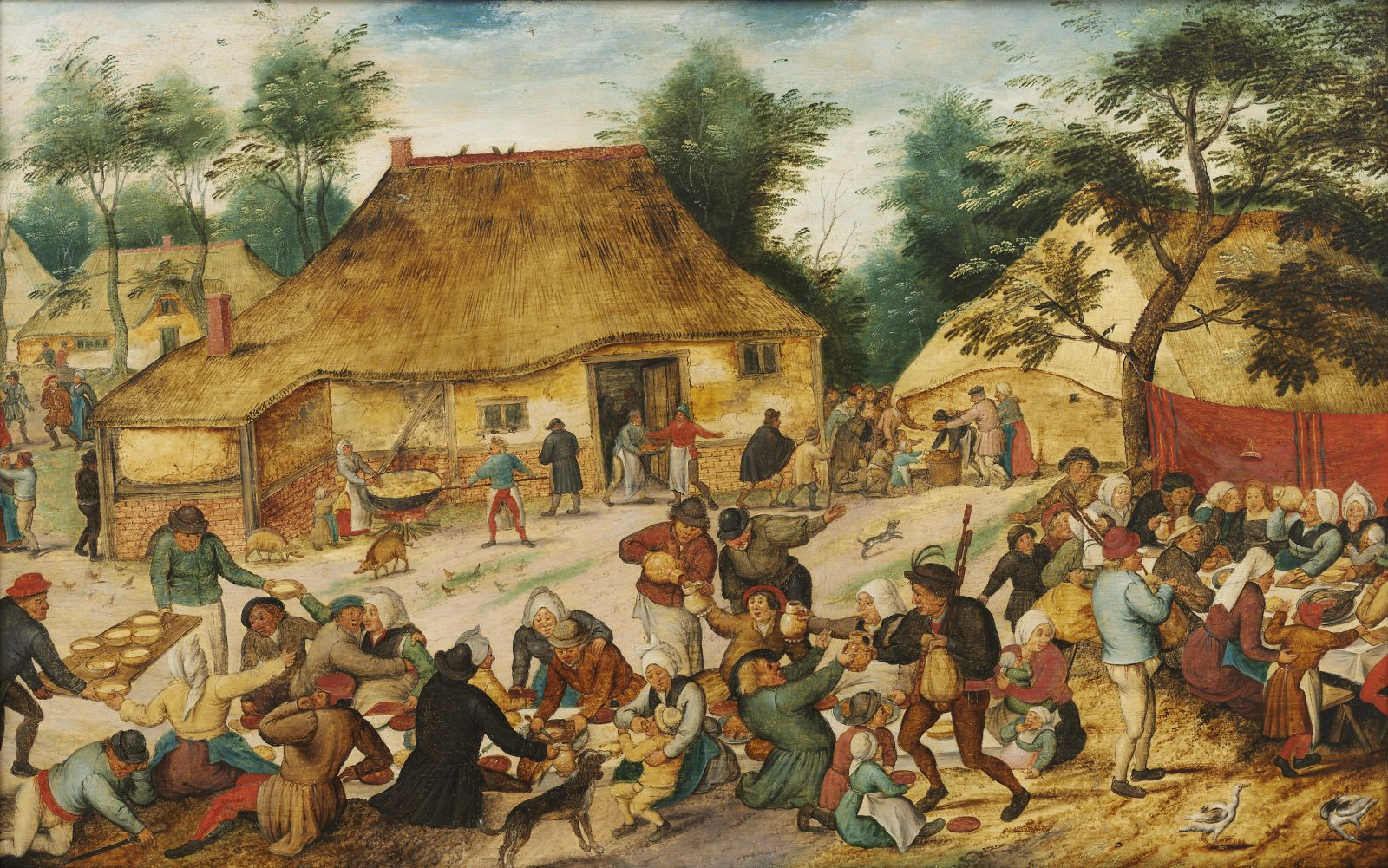 Repas de noce en plein air_ Pieter II Brueghel